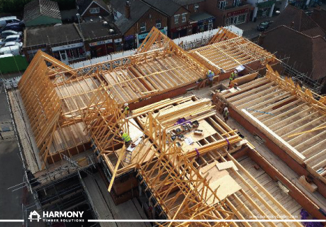 Harmony, McCarthy and Stone, Knebworth TIMBER ROOF, ROOF KIT, ROOF DESIGN, ROOF TRUSS, BUY TIMBER