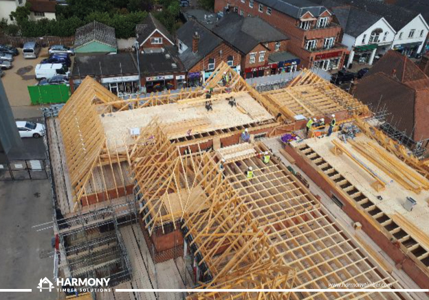 Harmony, McCarthy and Stone, Knebworth TIMBER ROOF, ROOF KIT, ROOF DESIGN, ROOF TRUSS, BUY TIMBER 2