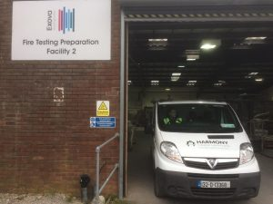 Harmony Timber Solutions Van at Exova Testing Centre