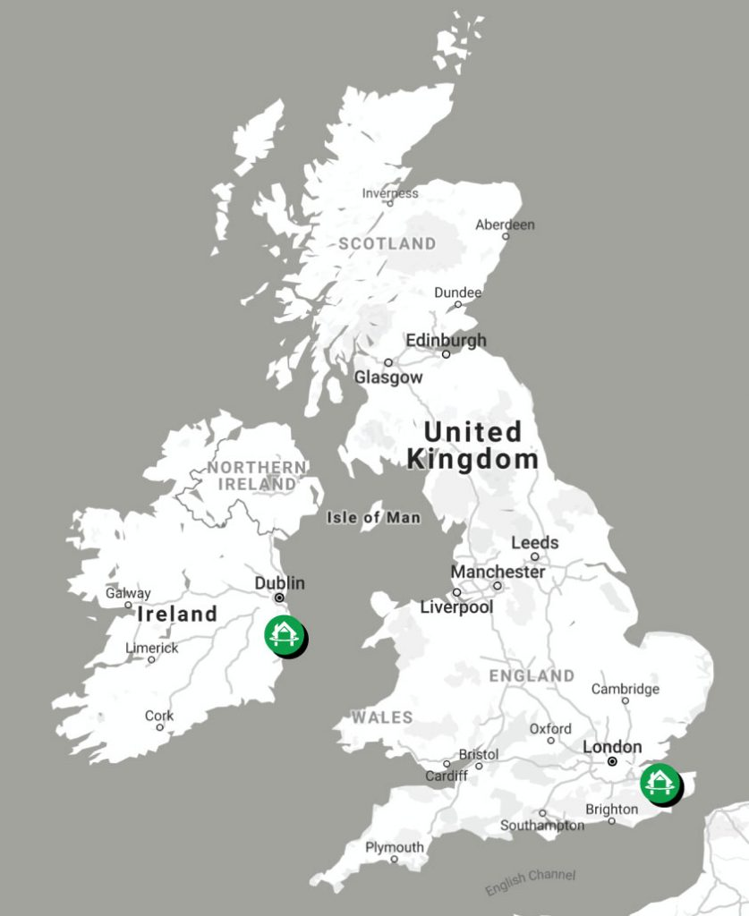 Harmony Timber Solutions Uk & Ireland Map